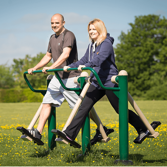 The Double Air Walker in use. Find out more about air walker fitness here