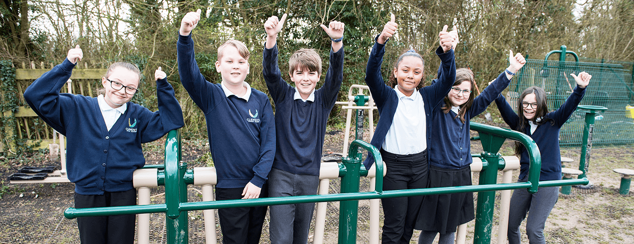 New outdoor gym installed into Haverhill Pirmary School, Clements Academy