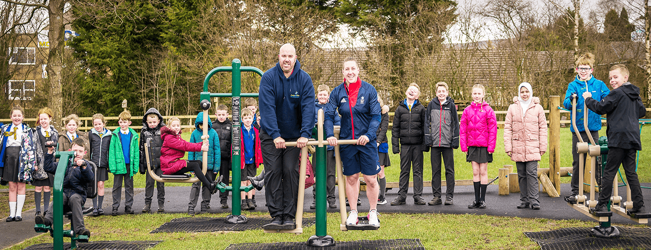 Outdoor Gym Opened by Olympian Rebekah Wilson