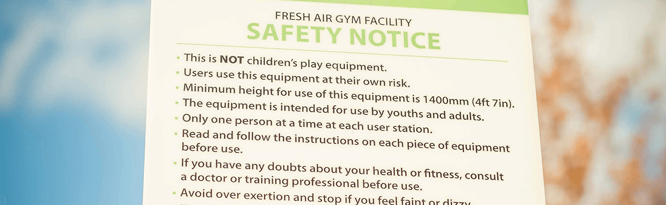 Outdoor Gym Equipment Signage, Fresh Air Fitness