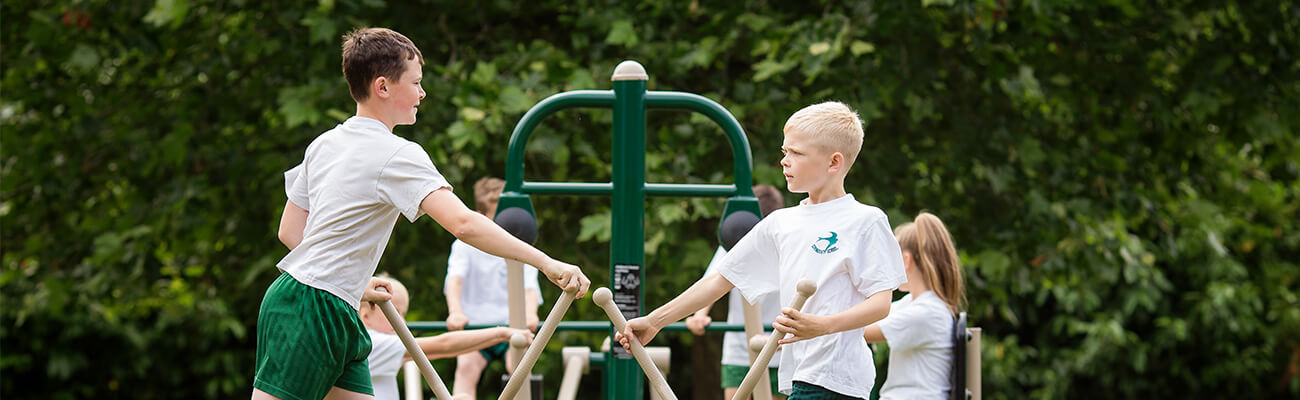 outdoor gym equipment in school, Fresh Air Fitness